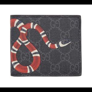 Black GG Supreme Snake Wallet